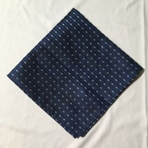 Brooklyn Wolf Navy Blue & White Pocket Square